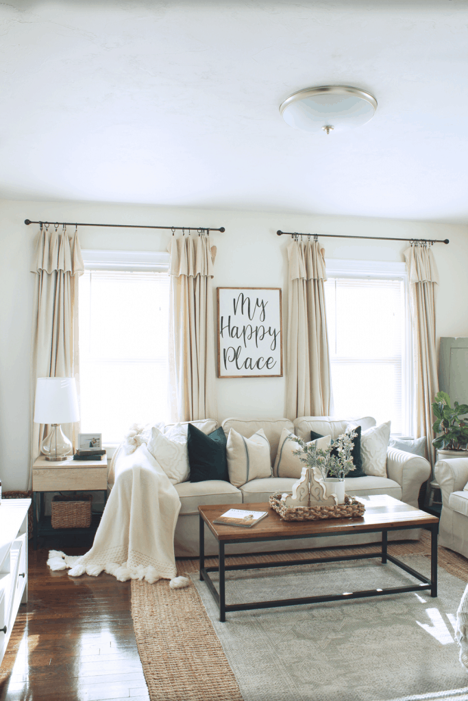 Diy Farmhouse Style Drop Cloth Curtains 2 Ways Micheala