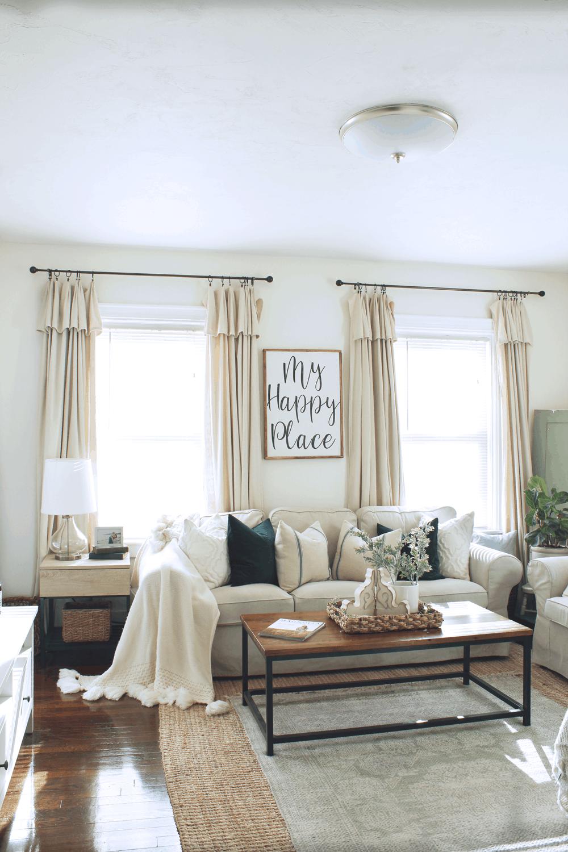 DIY Farmhouse Style Drop Cloth Curtains- 2 Ways • Micheala ... on Farmhouse Bedroom Curtain Ideas  id=37716