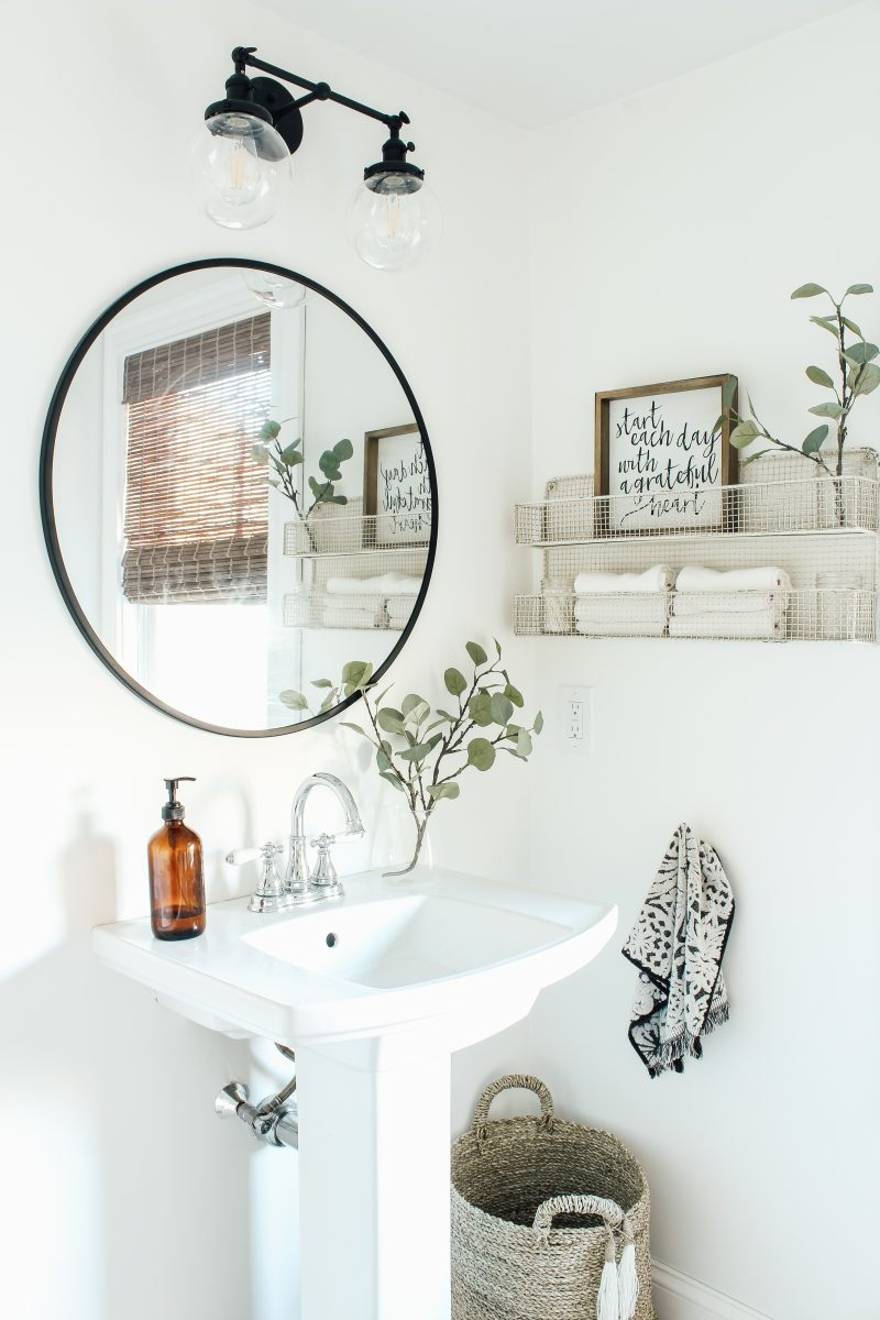 Modern Farmhouse Bathroom Makeover Reveal! | michealadianedesigns.com