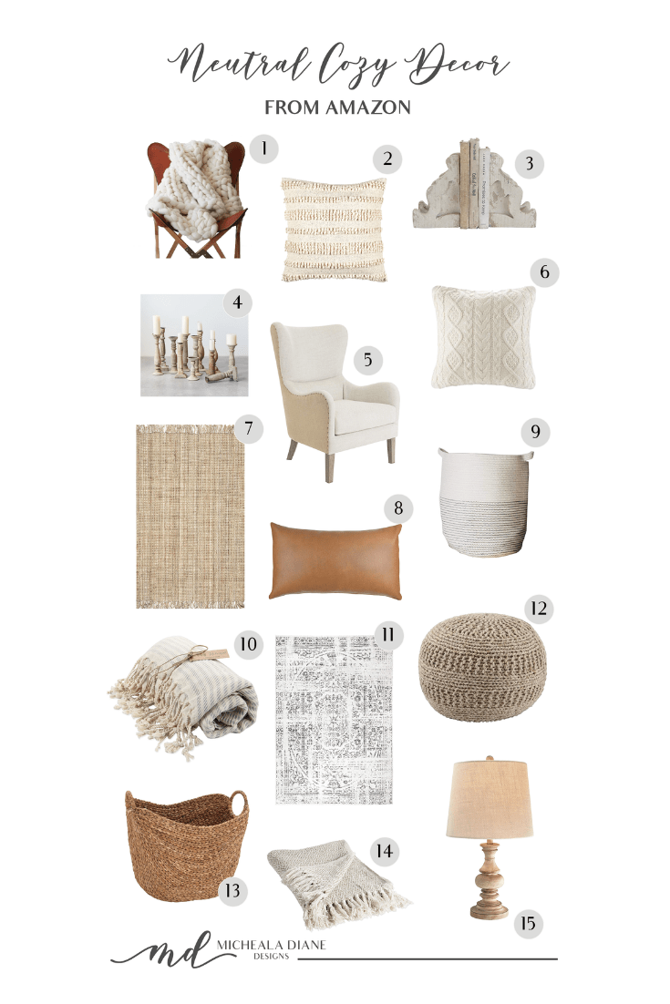 Neutral Cozy Decor From Amazon | michealadianedesigns.com