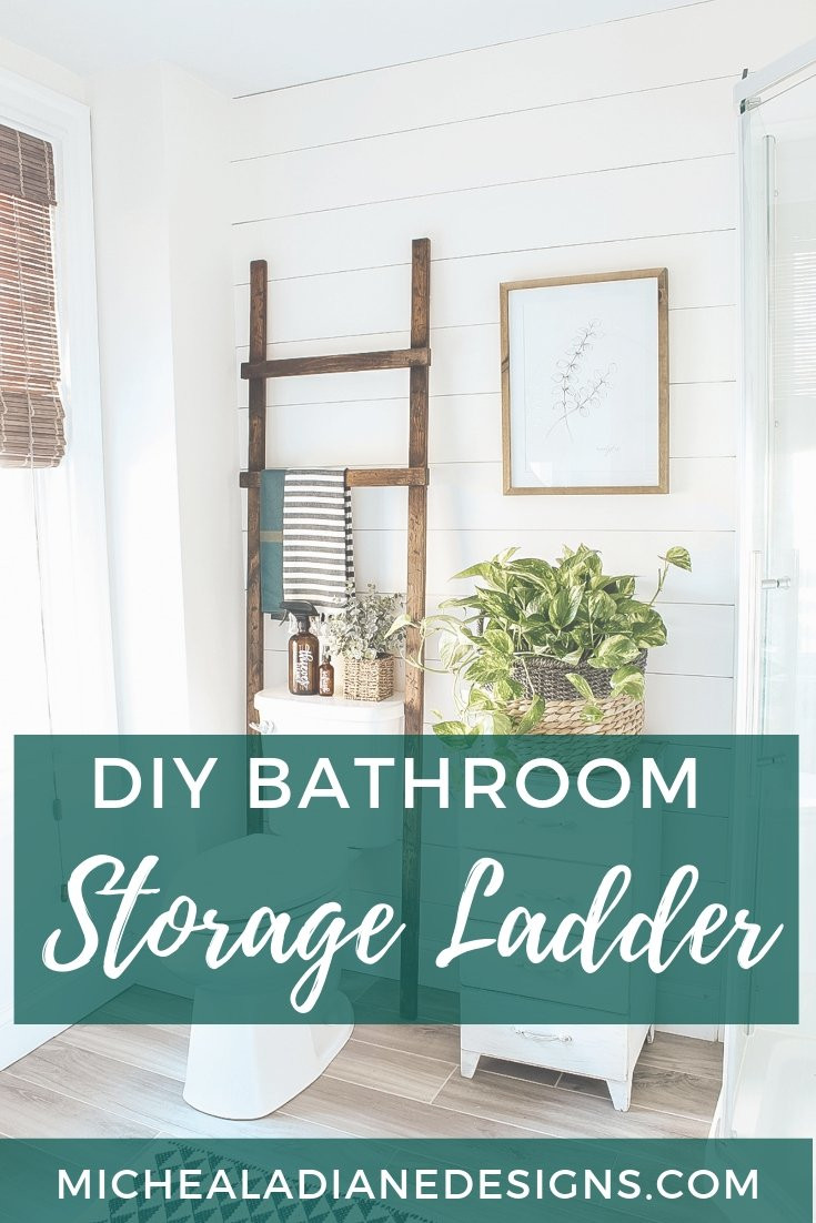 DIY Bathroom Ladder