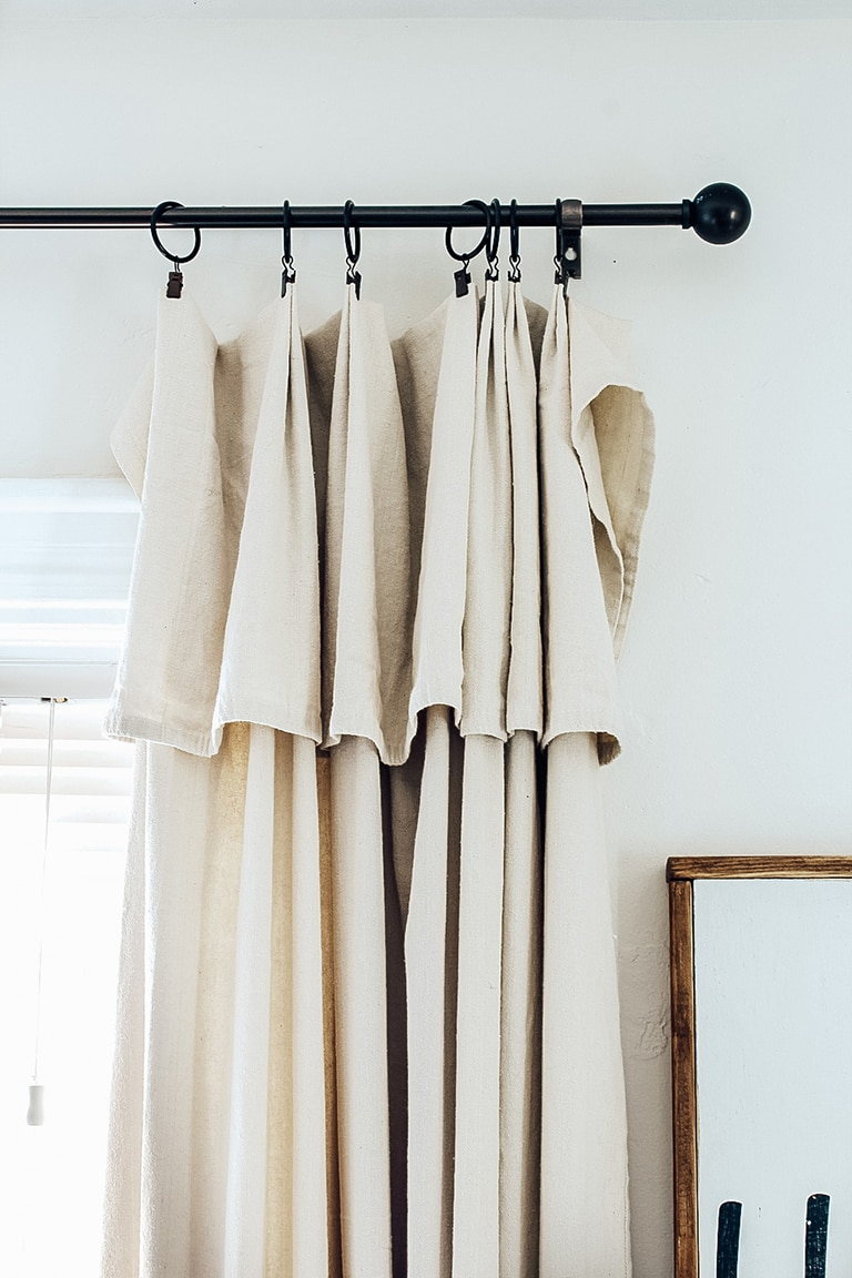 how to make drop cloth curtains