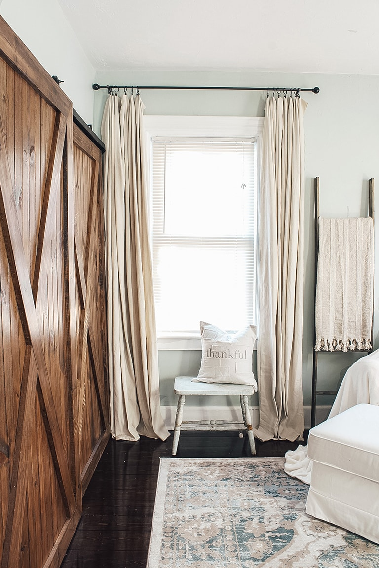 how to hang drop cloth curtains