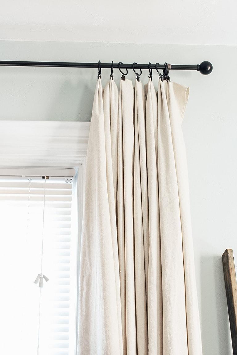 farmhouse drop cloth curtains