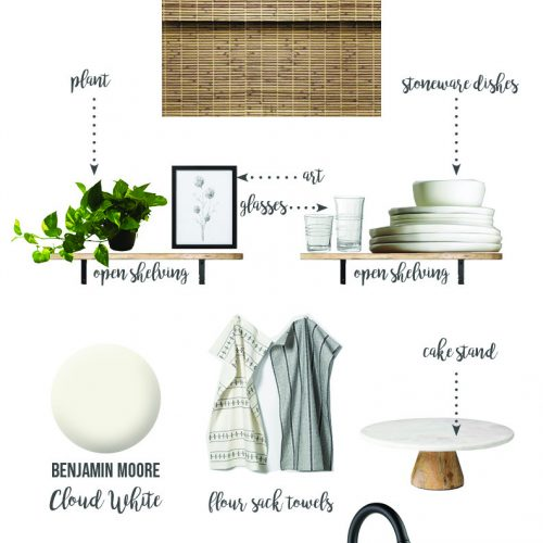 Modern Farmhouse Kitchen Makeover | Style Board