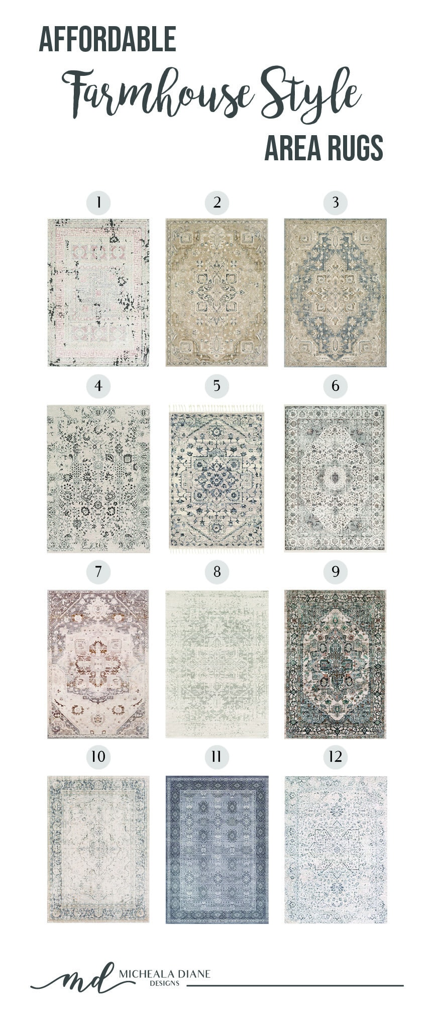 Affordable Farmhouse Style Rugs