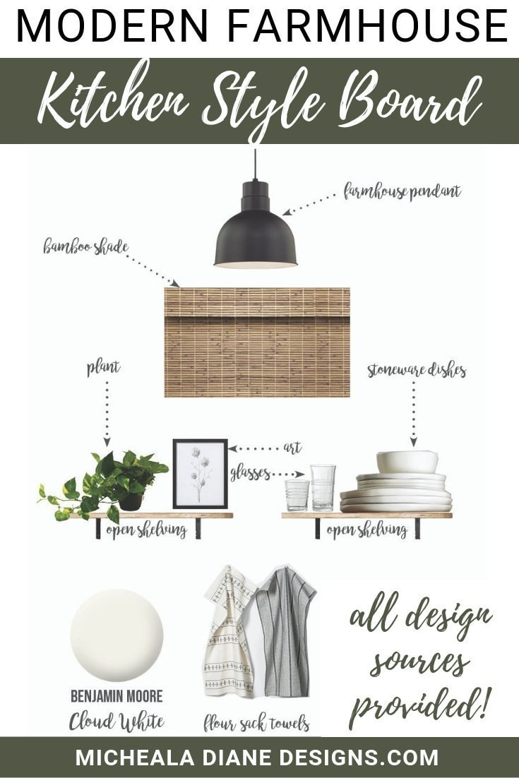 Modern Farmhouse Kitchen Style Board