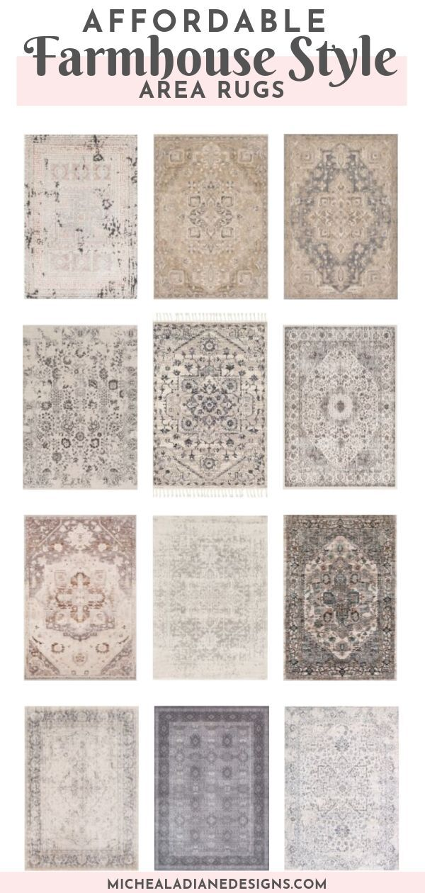 collection of farmhouse rugs