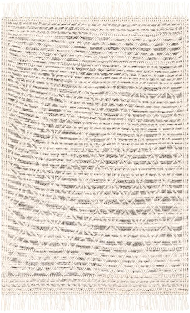 White and Grey Pattern Rug Ramsbury Boutique Rugs