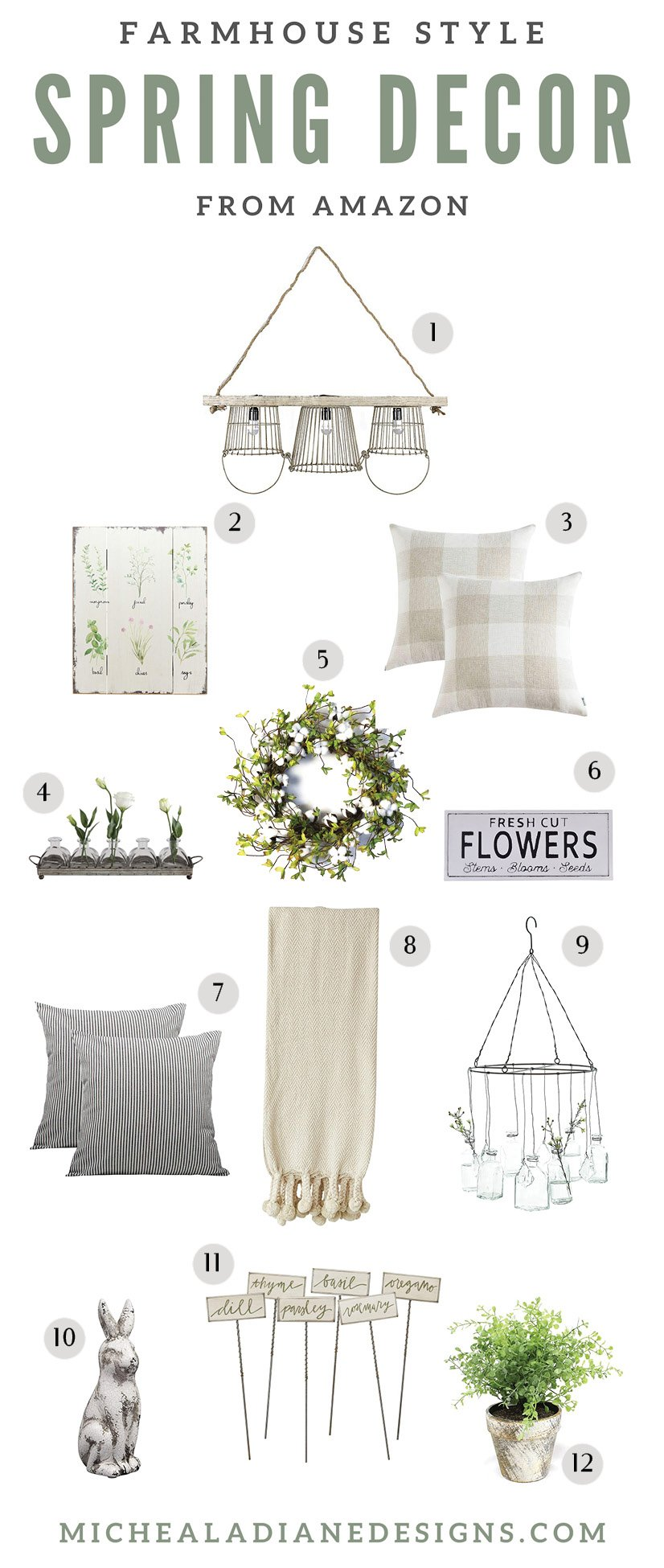 Farmhouse Style Spring Decor From Amazon