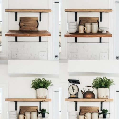 How to Style Open Shelving In Six Easy Steps