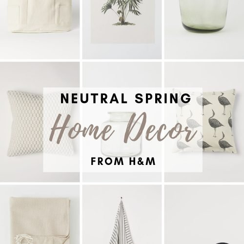 Neutral Spring Decor from H&M