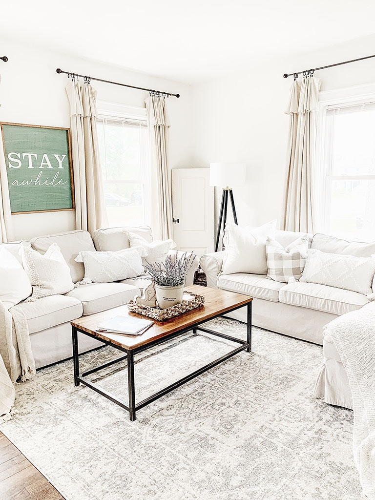 Boutique Rug in living room