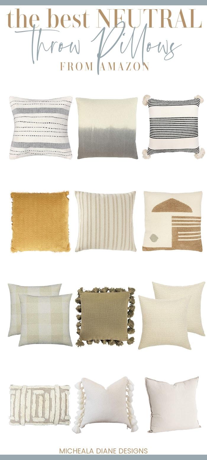 The Best Neutral Throw Pillows From Amazon Micheala Diane Designs