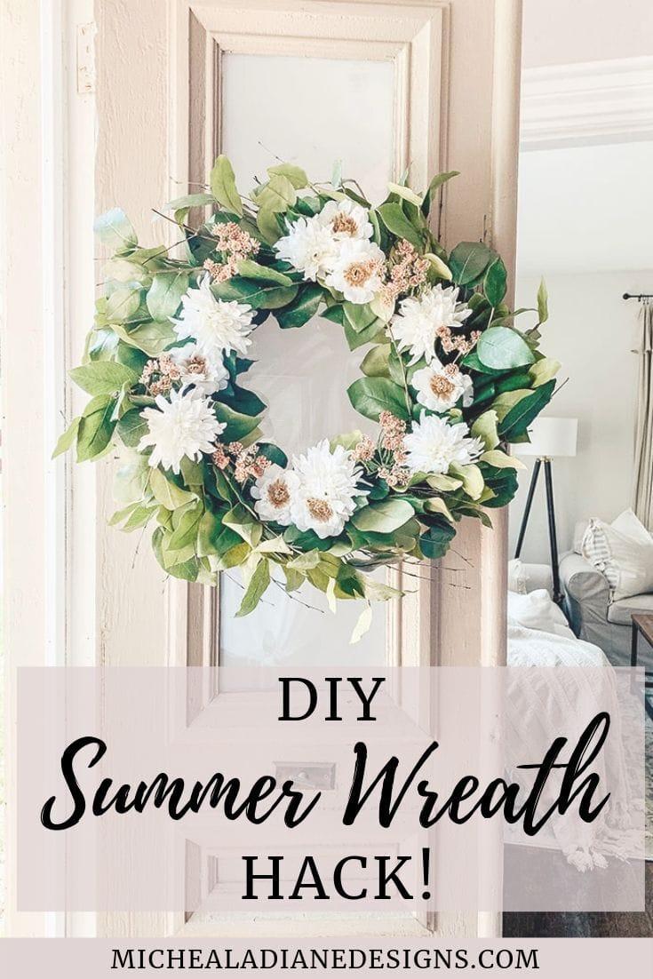 Diy Summer Wreath Easy Hack Micheala Diane Designs