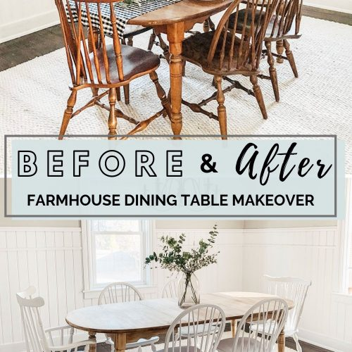 DIY Dining Room Table Makeover