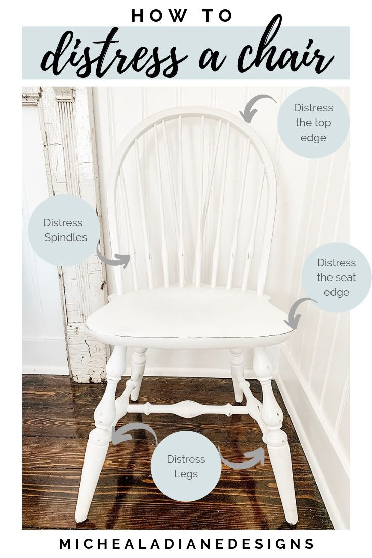 Distressing Chalk Paint Chair