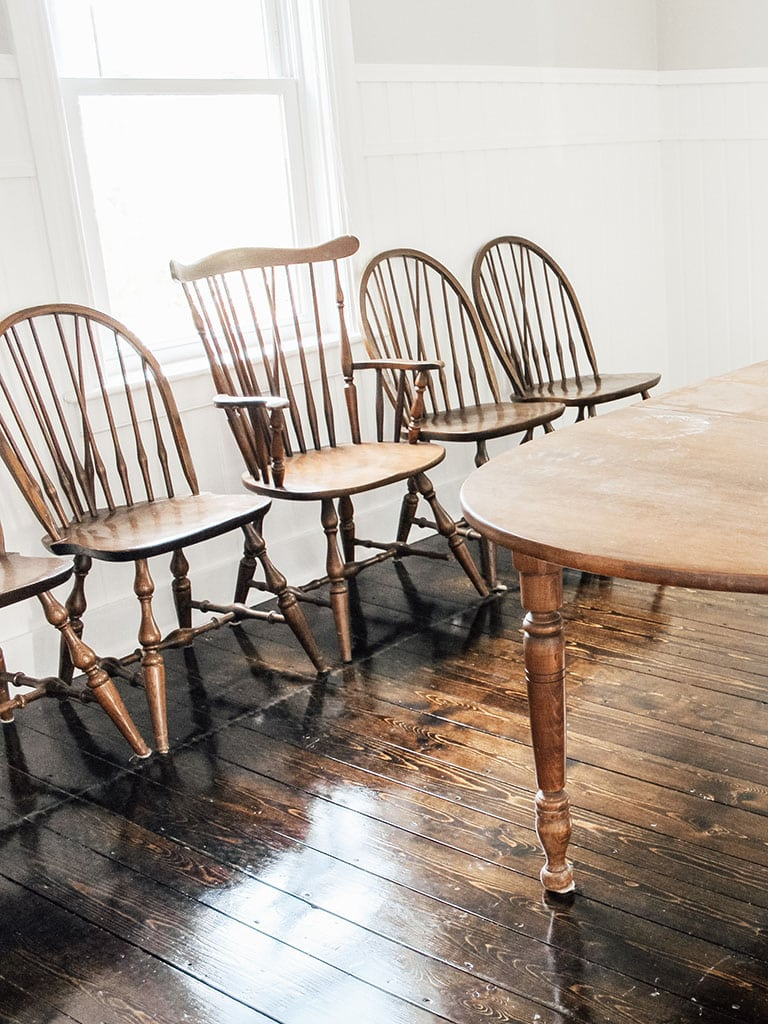 Old wood Table and Chairs