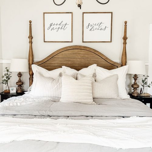 Master Bedroom Bedding Reveal
