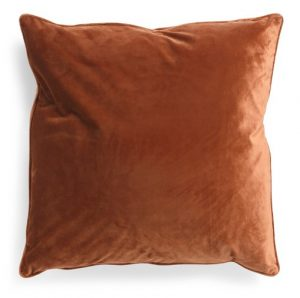 Clay colored fall pillow