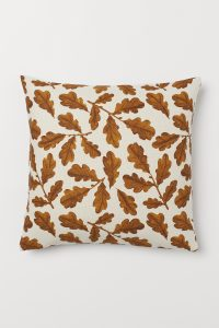 Orange Fall Leaf Pillow