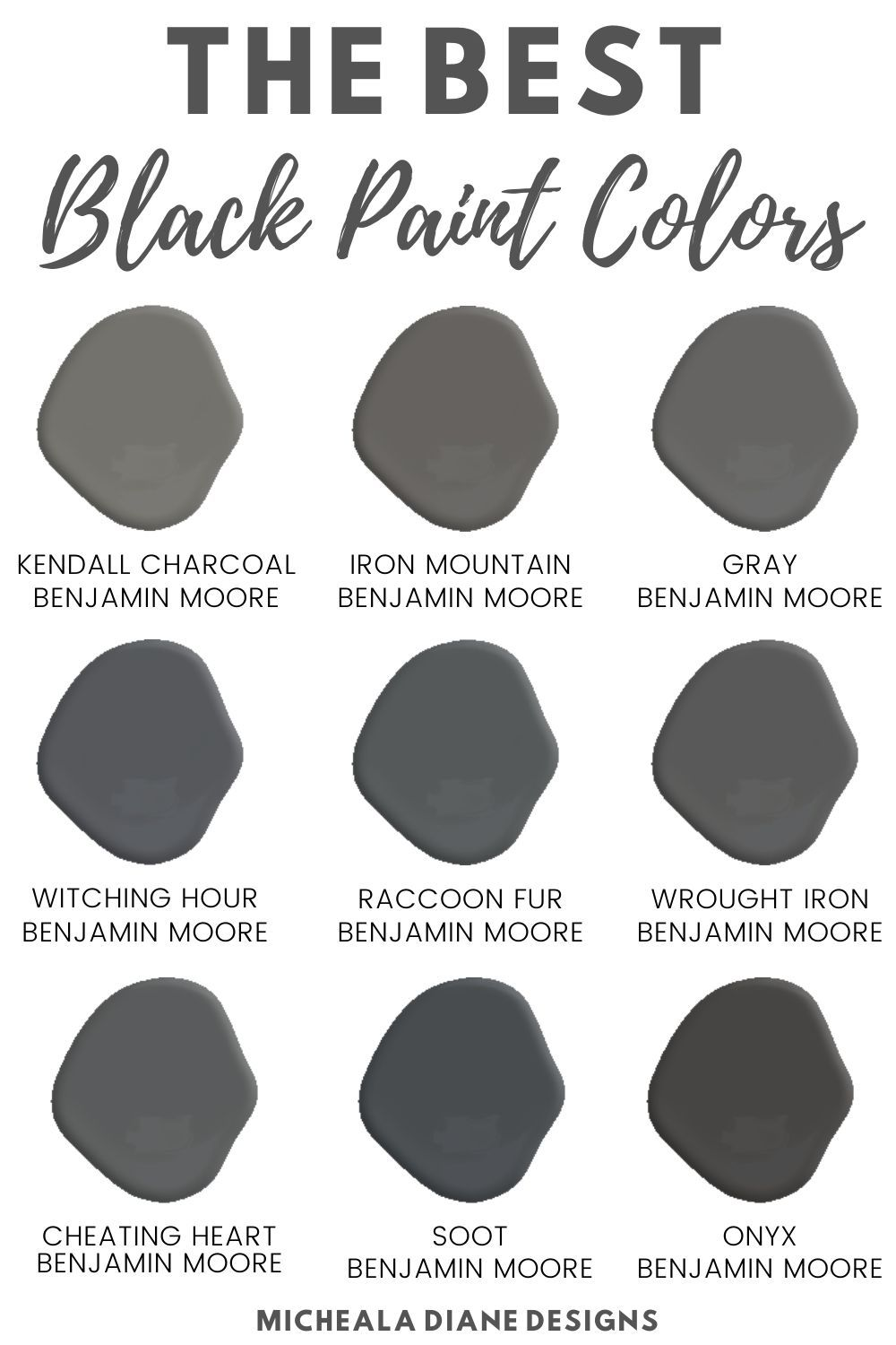 The Best Black Paint Colors Micheala Diane Designs