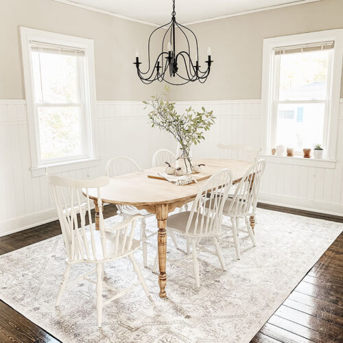 Stidham Rug from Boutique rugs in dining room
