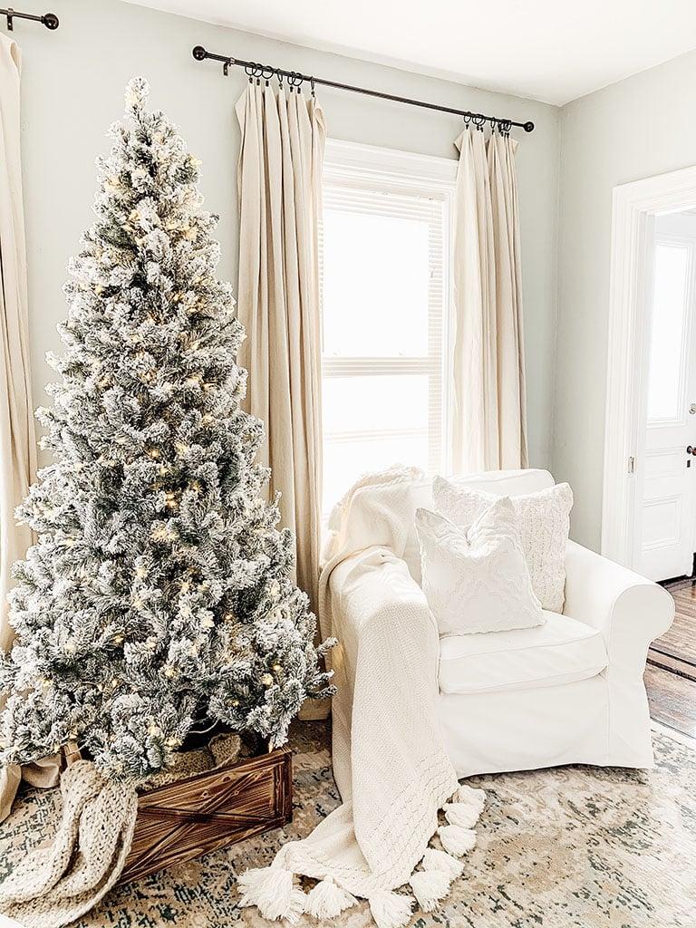 King Of Christmas Prince Flocked Tree