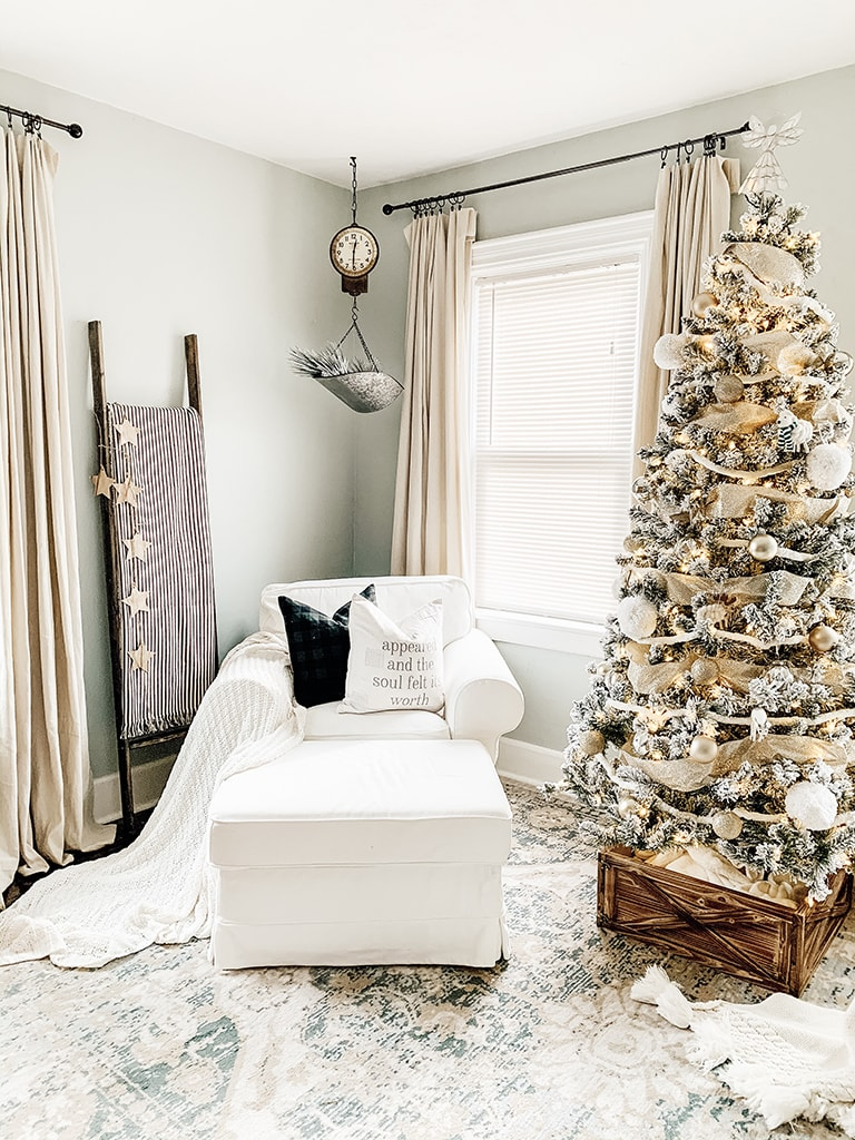 Den Decorated for Christmas