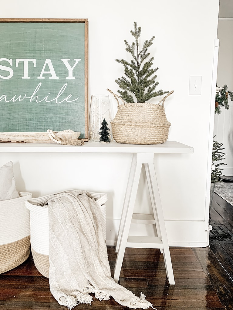 Christmas Tree on console table