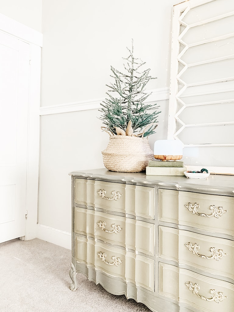Farmhouse Christmas dresser