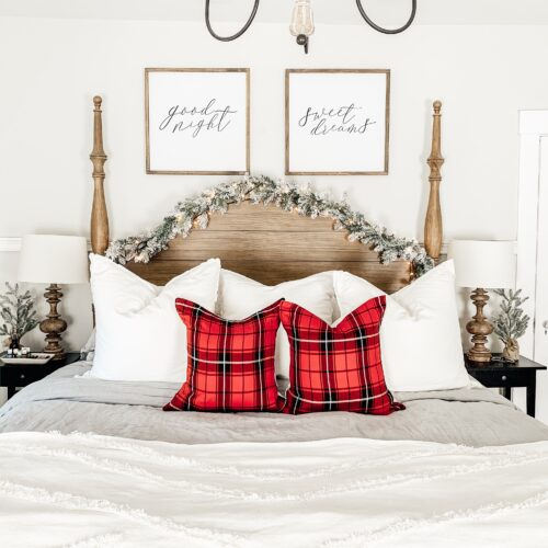 Farmhouse Christmas Bedroom
