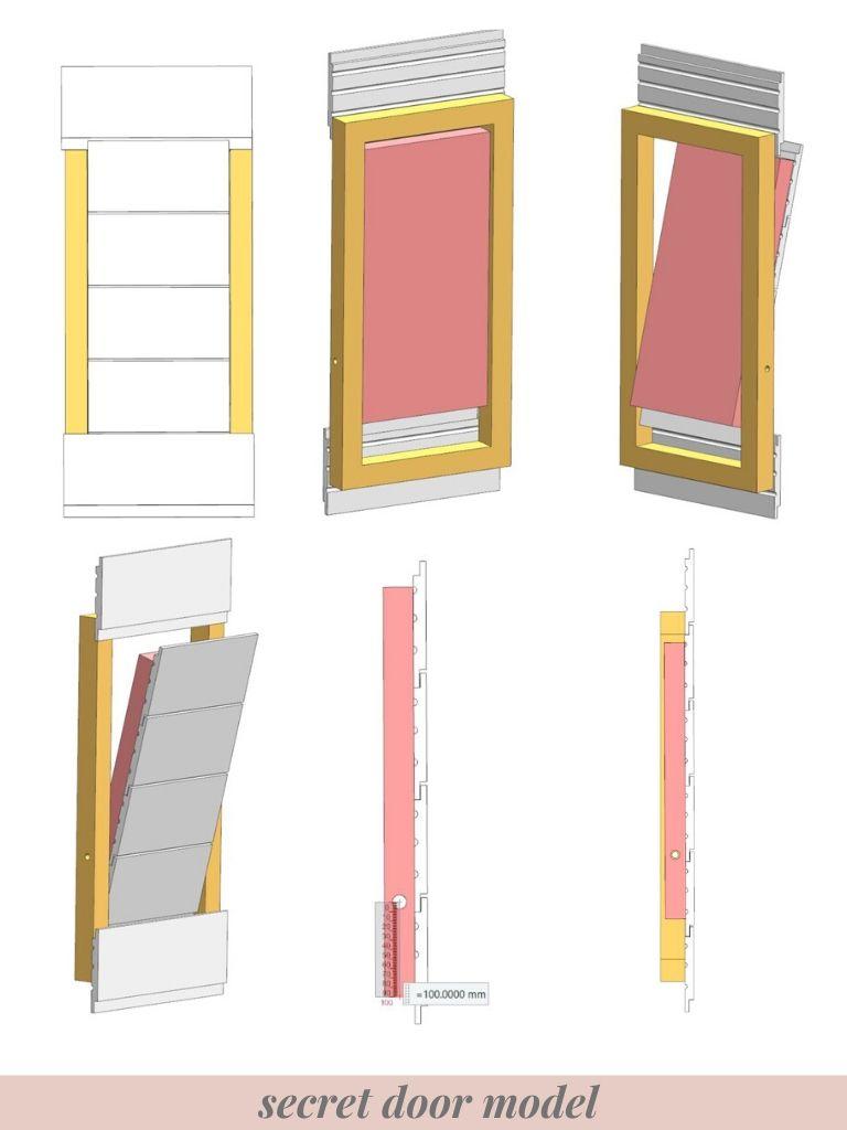 Secret door model