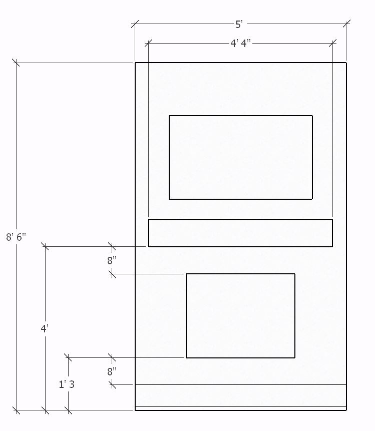 Shiplap Fireplace Dimensions