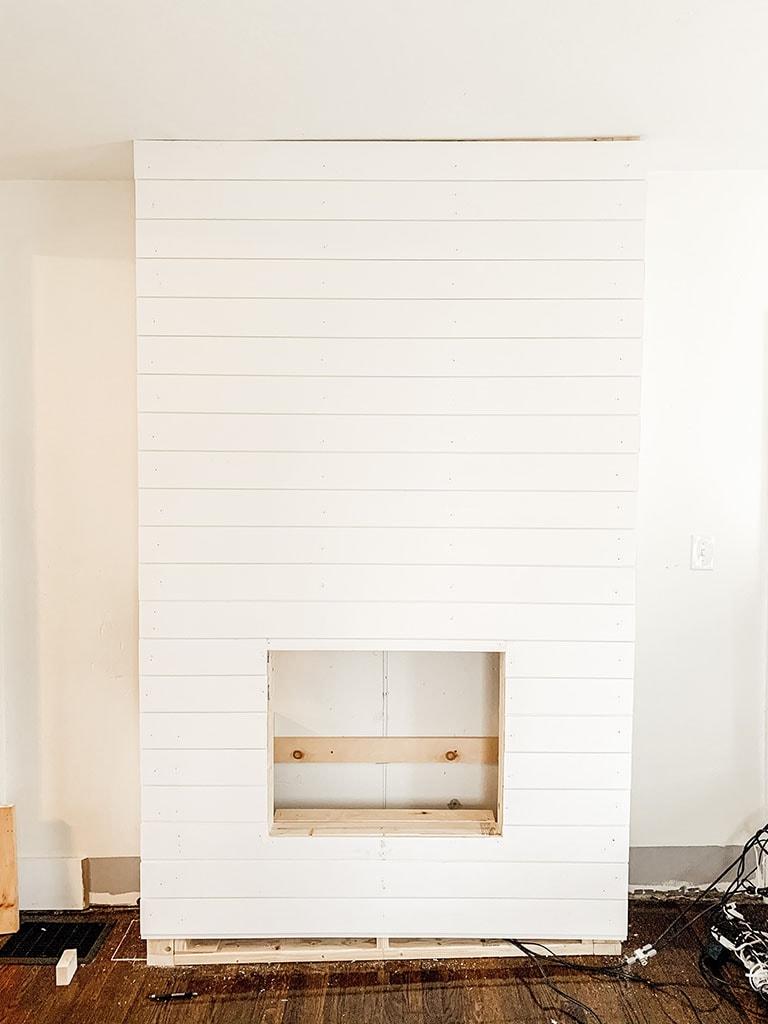 Shiplap On Fireplace