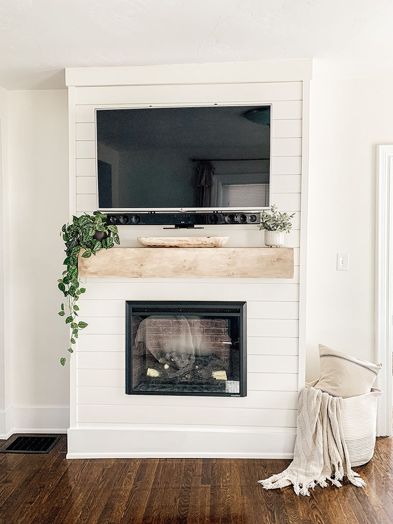 Shiplap Electric Fireplace