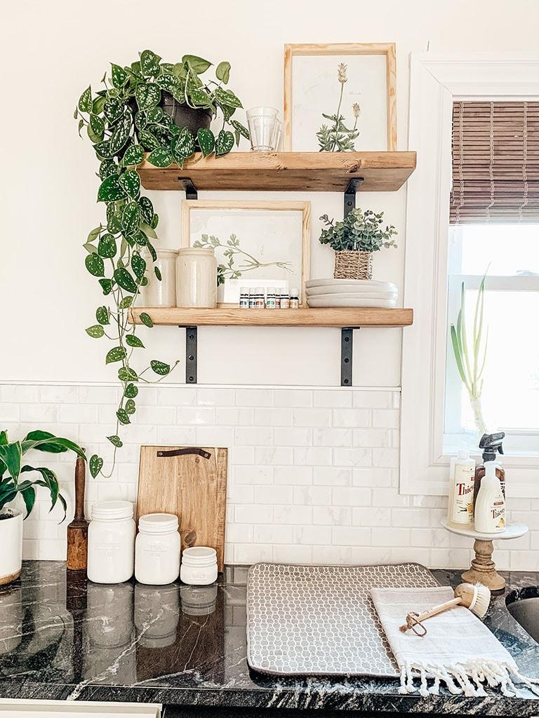 spring kitchen shelves