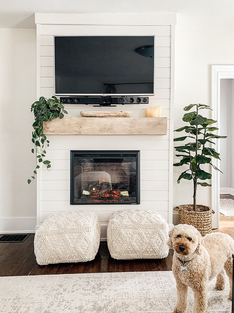 How To Decorate A Mantel With A Tv Micheala Diane Designs
