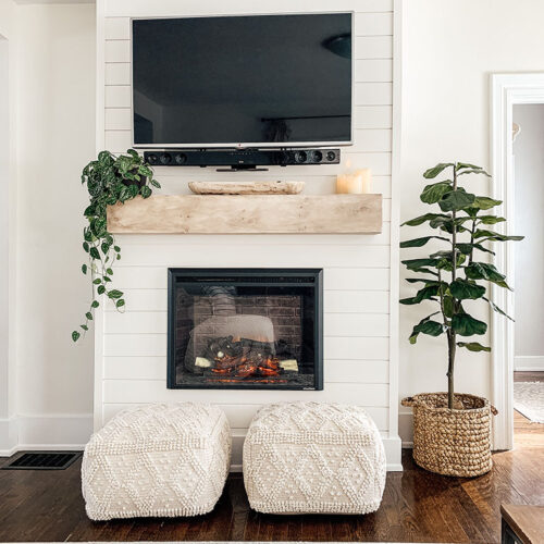 How to Decorate a Mantel with a TV