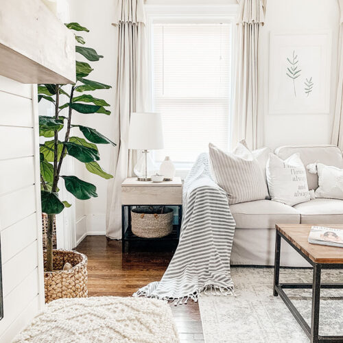 Simple Spring Living Room