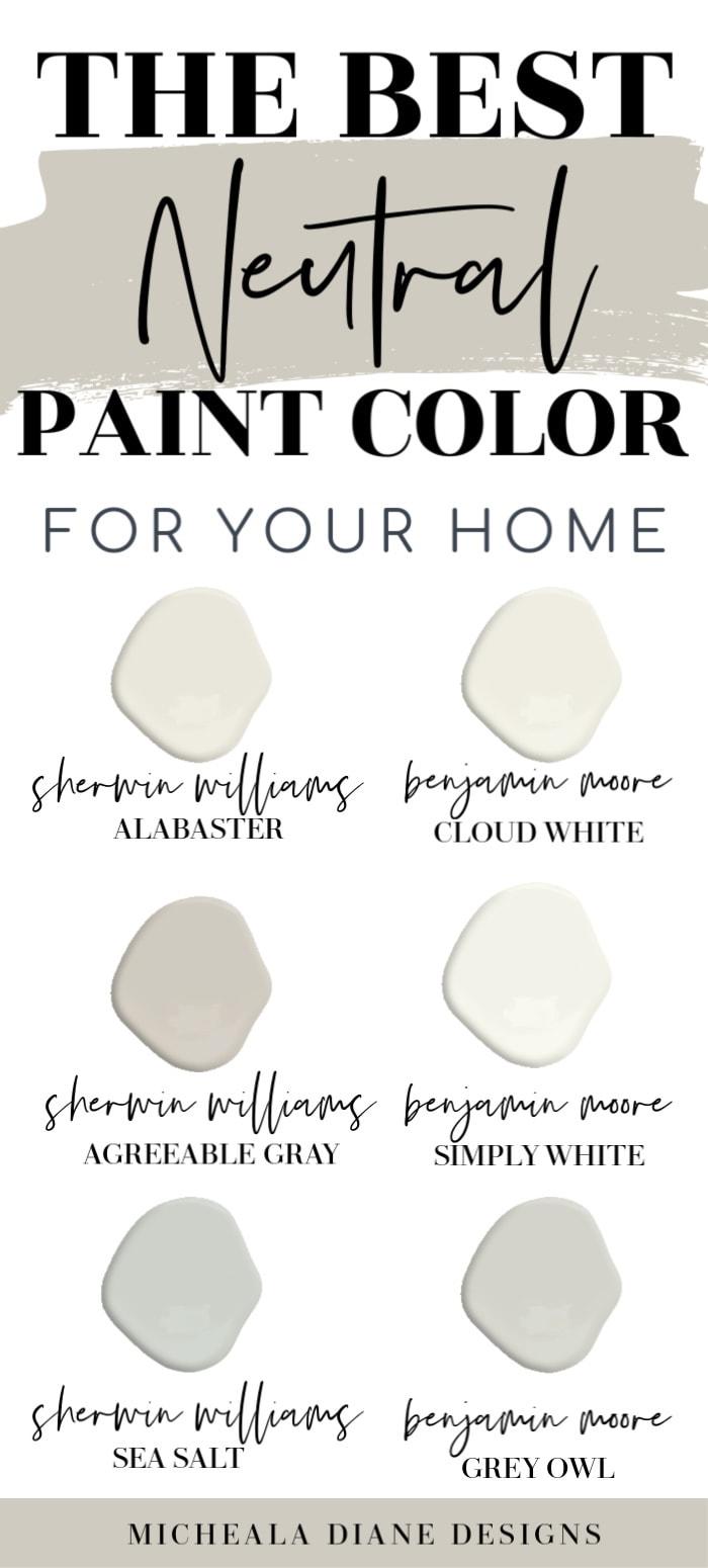 Neutral Paint Colors   My Home Paint Colors   Micheala Diane Designs