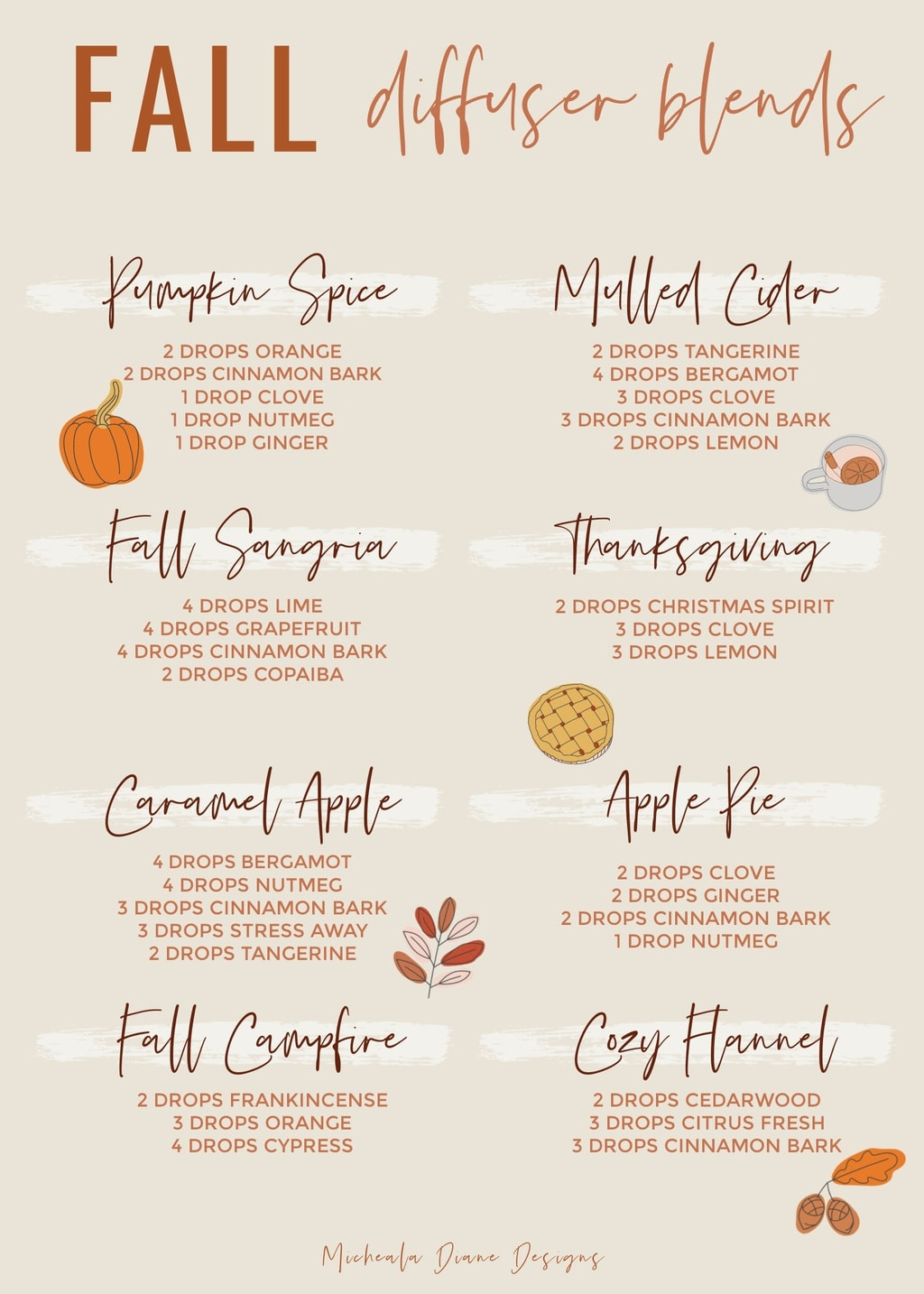 Young Living Fall Diffuser Blends