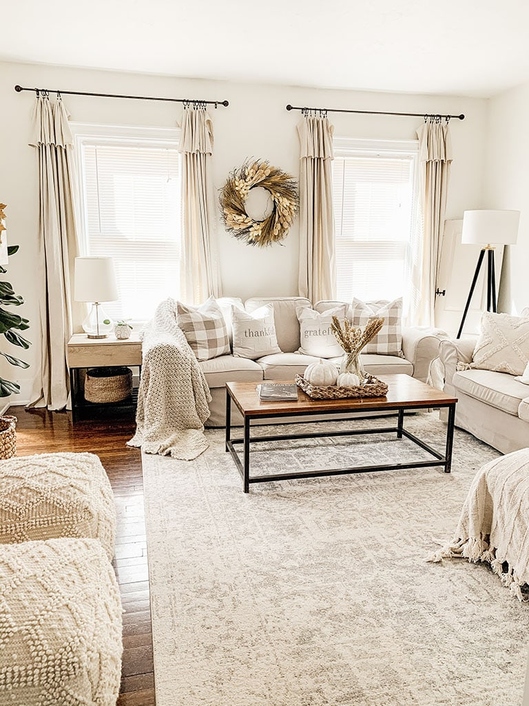 Cozy Neutral Fall Living Room
