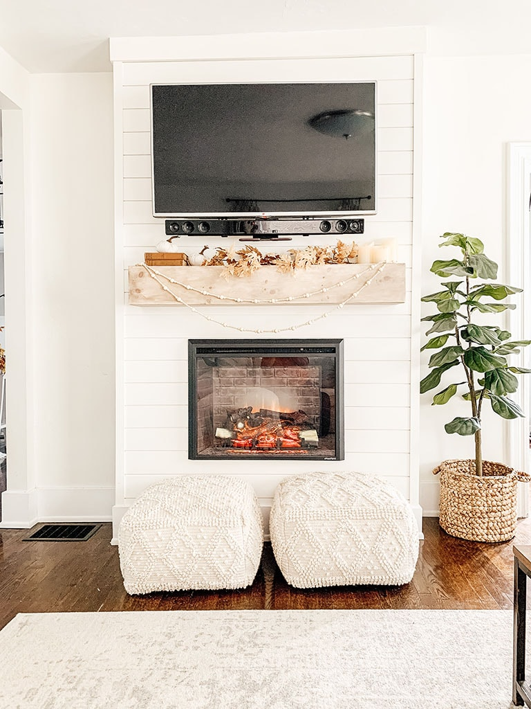 Shiplap Fall Fireplace