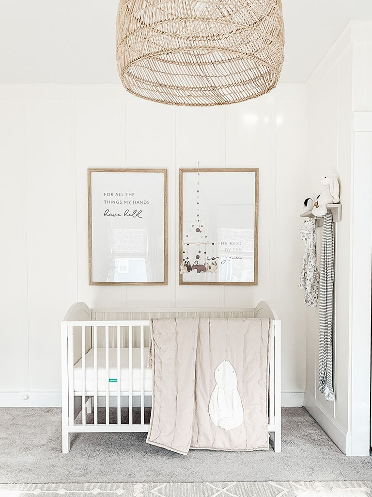 Art above Crib in nursery