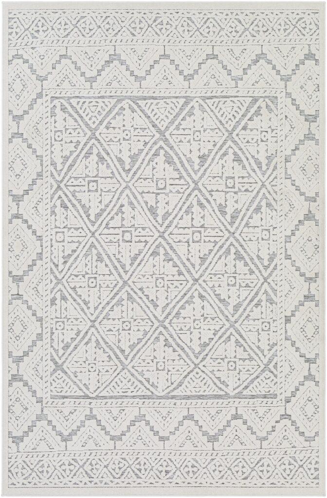 Siloam Outdoor Rug- Grey Pattern Outdoor Rug