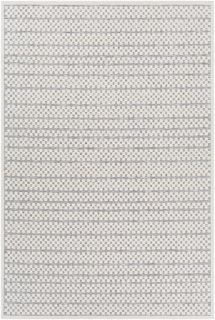 Small Pattern light grey, khaki, ivory and brown outdoor rug- Babbie Boutique Rugs