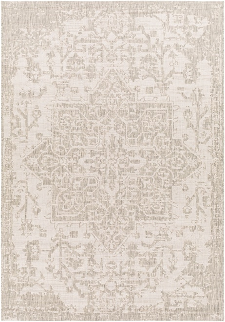 Vintage Traditional Grey Outdoor Rug- Canadian Boutique Rugs