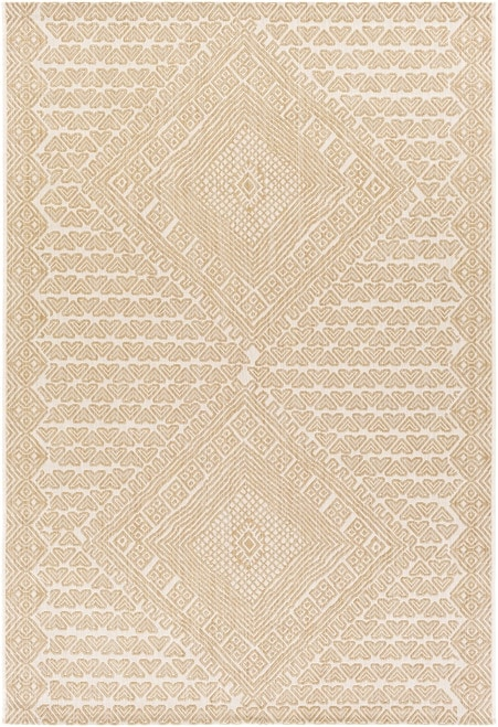 Neutral Tan Outdoor Loville Rug from Boutique Rugs