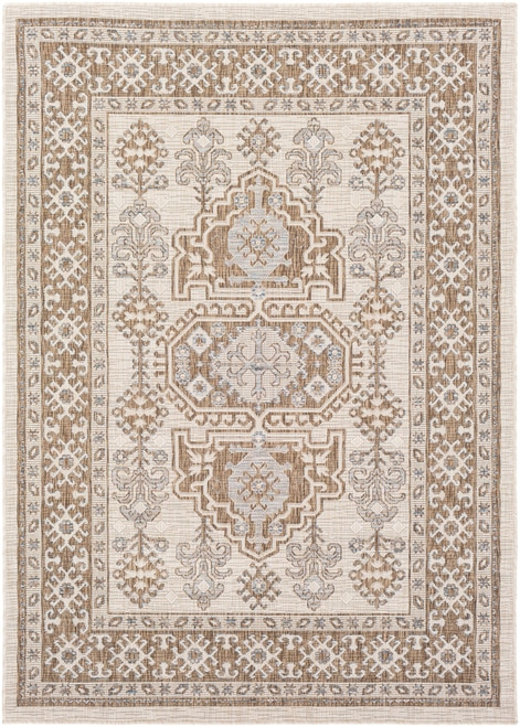 Traditional pattern outdoor rug- Panhandle Boutique Rugs